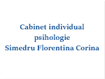 Cabinet individual de psihologie Simedru Florentina Corina