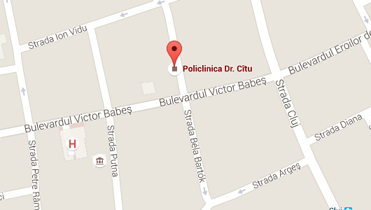 Localizare Policlina Dr. Cîtu